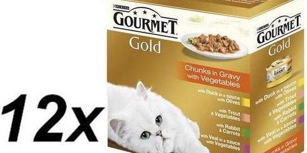 Gourmet Gold kousky ve šťávě 12 x ( 8x85g )