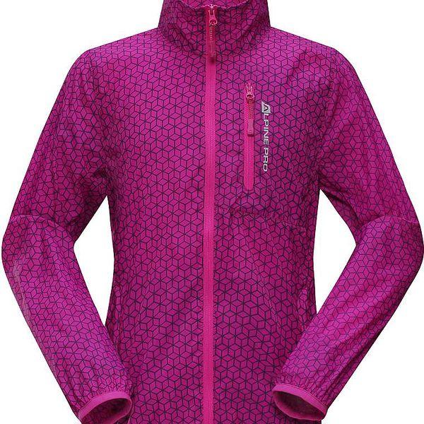 ALPINE PRO Dívčí větruodolná bunda MIMOCO- růžová