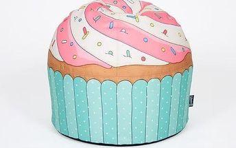 Puf ve tvaru dortíku Cupcake Blue - doprava zdarma!