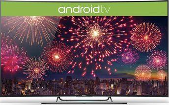 Prohnutá televize Sony Bravia 4K 3D s Ultra HD + 200 Kč za registraci