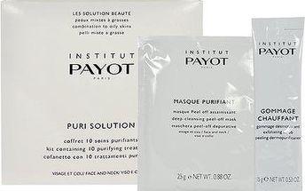 Payot Puri Solution Kit dárková sada W - 10x 15g Gommage Chauffant + 10x 25g Masque Purifiant Smíšená a mastná pleť