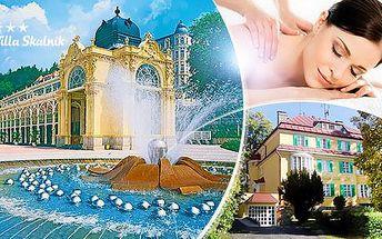 Mariánské Lázně na 3, 4 nebo 6 dní - wellness pobyt pro 2 osoby + polopenze, masáže, zábaly a bazén