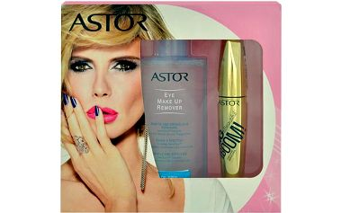Astor Big & Beautiful Boom Killer Black Volume Mascara dárková sada W - 12ml Big & Beautiful Boom Killer Black Volume Mascara + 125ml Eye Make Up Remover - Odstín 910 Ultra Black