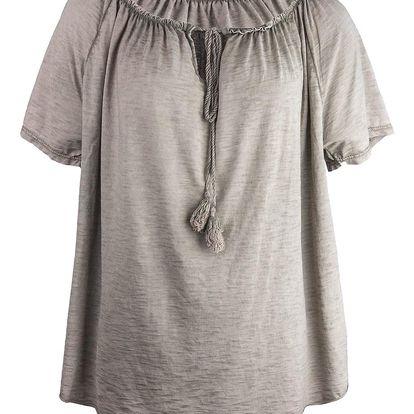Dámské tričko s odhalenými rameny