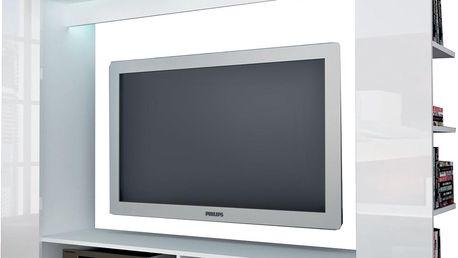 Televizní stěna OLLI bílá / lesklá bílá