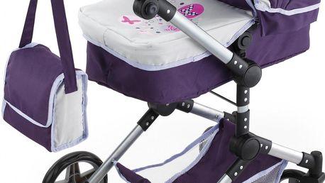 Kočárek pro panenky Bayer Design Combi Neo Pro, fialovošedý + 200 Kč za registraci