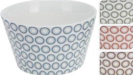Miska 480 ml, 13x8 cm, červené kroužky EXCELLENT KO-Q75100280cerv