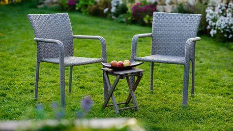 Zahradní set BARCELONA, šedý