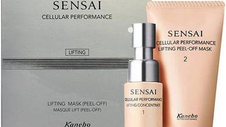 Kanebo Sensai Cellular Performance Lifting Mask dárková sada W - 20ml Cellular Performance Lifting Concentrate + 50ml Cellular Performance Lifting Peel-Off Mask Pro vypnutou a hladší pleť