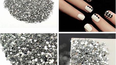 2 000 drobných kamínků na nehty - dodání do 2 dnů