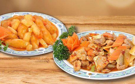 Čínské menu pro dva servírované v 18. patře