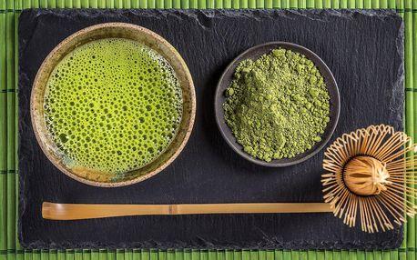 Balení japonského čaje matcha