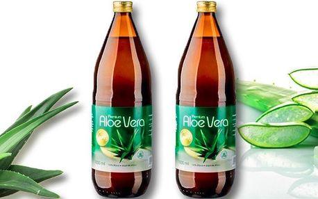 2 litry 100% přírodních šťáv s aloe vera