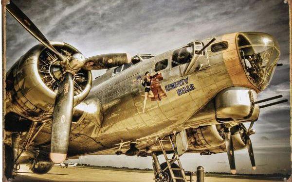 Plechová retro cedule - vojenský letoun - skladovka - poštovné zdarma