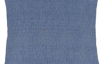 Bellatex Polštářek Ivo UNI modrá režná, 45 x 45 cm