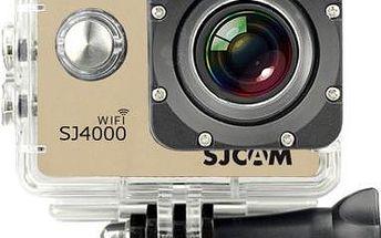 SJCAM SJ4000 WIFI sportovní kamera - zlatá