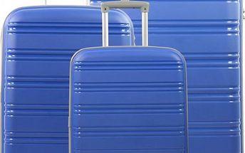 REAbags Cestovní kufry sada ROCK TR-0125/3 PP modrá