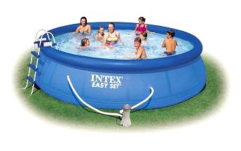 Bazén Intex Easy Set 4,57x1,07 m, kartušová filtrace 3,8 m3/h, schůdky, krycí plachta, podložka pod bazén
