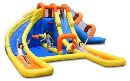 Skákací hrad Happy Hop: obří vodní aqua park, nafukovací, 7,3x6,3 metrů!