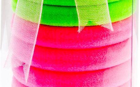 Fashion Icon Vlasové gumičky 12 ks neonové barevné