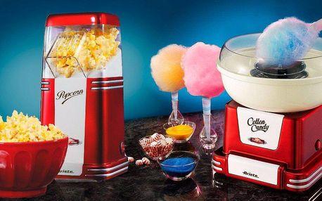 Popcornovač nebo stroj na přípravu cukrové vaty