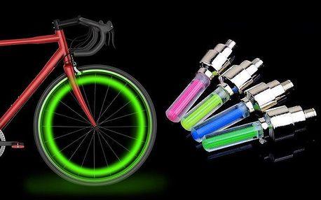 2 kusy svítících LED ventilků na kolo, auto či motorku v různých barvách
