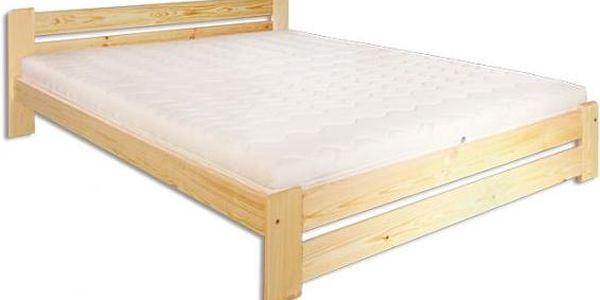 Manželská postel Delmar z masivu borovice - DOPRAVA ZDARMA!