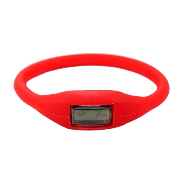 Digitální silikonové hodinky ION - červená - dodání do 2 dnů