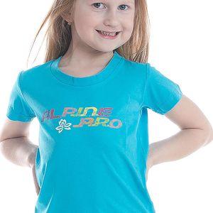 ALPINE PRO Dívčí funkční tričko s potiskem Bukko - modré