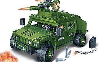 BanBao Stavebnice Defence Force vozidlo Humvee