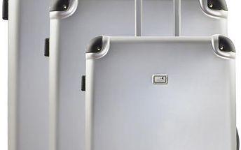 Sada 3 kufrů Integre Silver, 114 l/75 l/46 l - doprava zdarma!