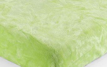 Jahu Prostěradlo Mikroplyš zelená, 180 x 200 cm