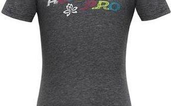 ALPINE PRO Dětské tričko s potiskem BUKKO - šedé