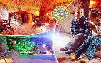 Solná jeskyně: 1 vstup nebo permanentka na 5 či 10 vstupů pro 1 osobu a dítě do 7 let zdarma, Letná