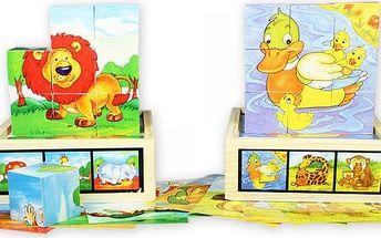 Marionette Puzzle kostky 2 sady, dřevěné