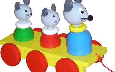 Miva Vacov Tři myšky tahací barevné