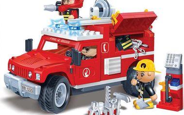 BanBao Stavebnice Fire hasičské auto zpětný chod