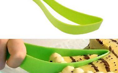 Designový nůž na dort - zelený