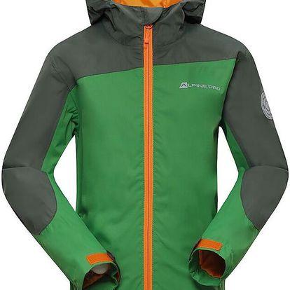 ALPINE PRO Dětská sportovní bunda Humano - zelená