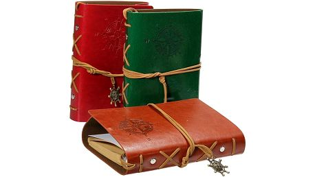 Cestovatelský deník v koženkových deskách - malý