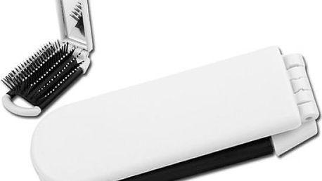 Skládací hřeben se zrcátkem - bílý - skladovka