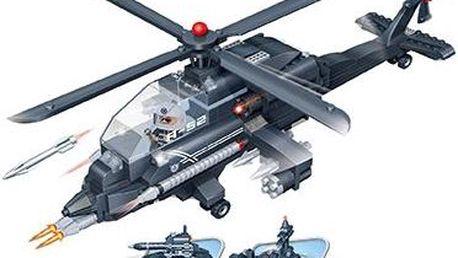 BanBao Stavebnice Defence Force vrtulník, loď, raketomet 3v1