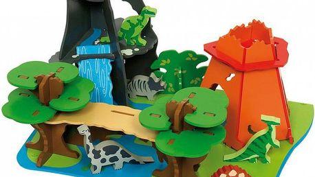 Bigjigs Toys Dřevěný ostrov dinosaurů