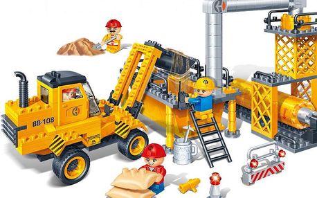 BanBao Stavebnice Construction auto stavební zpětný chod