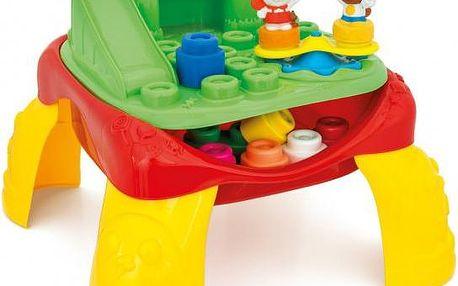 Clementoni Veselý hrací stolek s kostkami a zvířátky