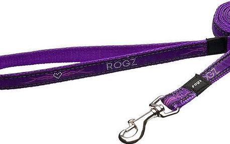 Rogz FANCY DRESS vodítko L Scooter Purple Chrome
