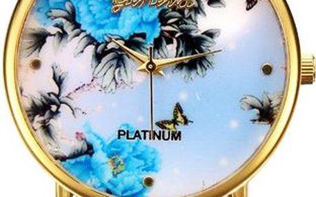 Půvabné hodinky s květinovým vzorem