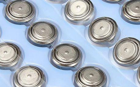 100ks Alkalická knoflíková baterie AG3/LR41/392A
