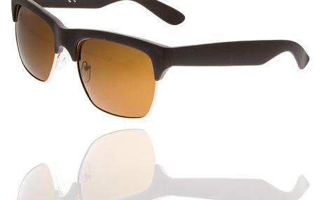 Fashion Icon luneční brýle Retro Clubmaster unisex hnědé