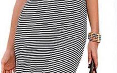 Proužkované dámské šaty Carla